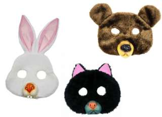 masques animaux peluche