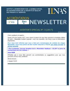 Newsletter auditeurs décembre 2017