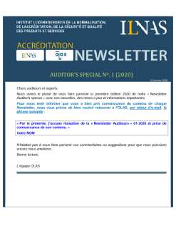Newsletter Auditeurs Janvier 2020