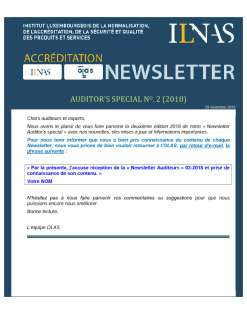 Newsletter Auditeurs Novembre 2018