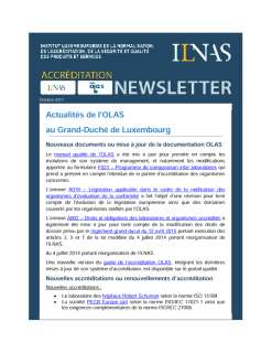 Newsletter OLAS octobre 2017