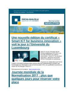 Newsletter normalisation septembre 2017
