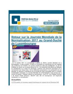 Newsletter normalisation octobre 2017