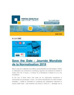 Newsletter normalisation aout 2018