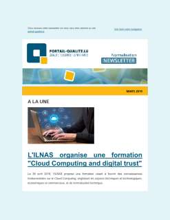 Newsletter Normalisation mars 2019