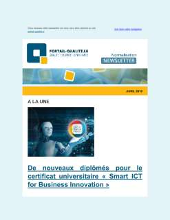 Newsletter Normalisation - Avril 2019