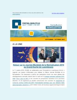 Newsletter normalisation septembre-octobre 2019