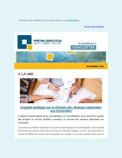 Newsletter normalisation novembre 2019