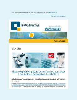 Newsletter normalisation avril-mai 2020